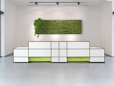 Modular Office reception desk LIGHTING OPTIONS