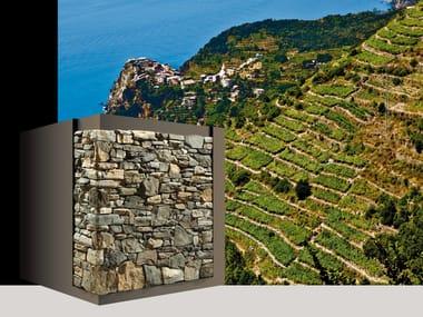 Rivestimento di facciata in pietra artificiale LIGURIA P82