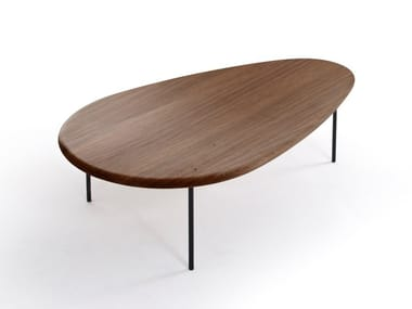 Low solid wood coffee table LILY | Solid wood coffee table
