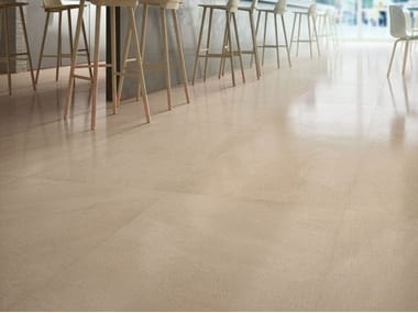 Porcelain stoneware wall/floor tiles with stone effect LIMESTONE - AMBER
