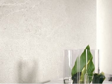 Porcelain stoneware wall/floor tiles with stone effect LIMESTONE - CLAY