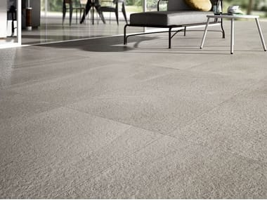 Porcelain stoneware wall/floor tiles with stone effect LIMESTONE - OYSTER