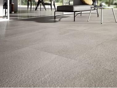 Pavimento/rivestimento in gres porcellanato effetto pietra LIMESTONE - OYSTER