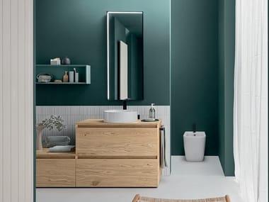 Floor standing basin units with drawers LINEÒ   Floor-standing vanity unit
