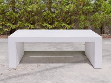 Rectangular concrete picnic table LINE