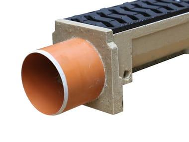 Concrete Drainage channel and part LINE end cap