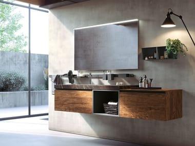 Wall-mounted vanity unit LINEA 01