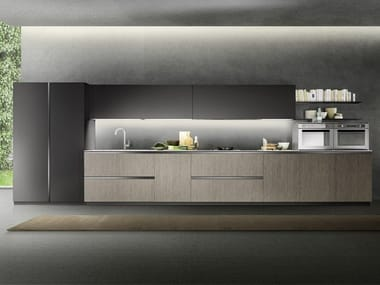 Linear kitchen with integrated handles LINEA 05
