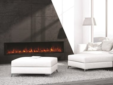 Open electric built-in fireplace LINEA 1000