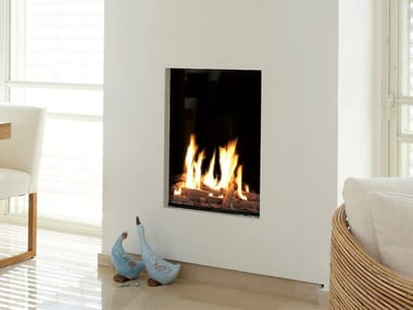 Gas closed built-in glass fireplace LINEA 60X80