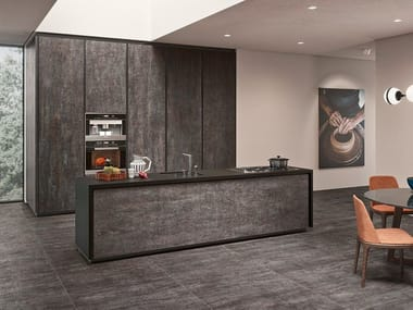 Laminated stoneware wall/floor tiles with metal effect LINEA COSMOS