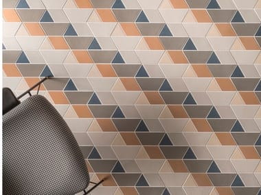 Glazed stoneware wall/floor tiles LINEA