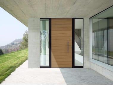 Aluminium and wood entry door LINEA HP