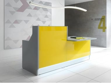 Office reception desk with Built-In Lights LINEA | Office reception desk with Built-In Lights