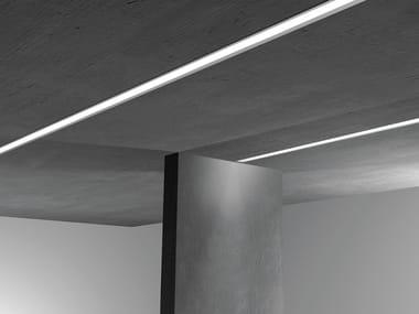 Lampada da soffitto a LED in alluminio a incasso con sistema RGB LINEA RGB