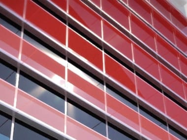 Glass and aluminium solar shading LINEA | Solar shading