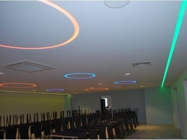 Ceiling mounted gypsum Linear lighting profile LINEAR CIRCLE