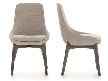 Upholstered fabric chair LINEAR