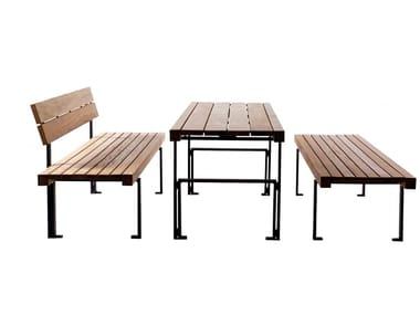 Rectangular wooden Table for public areas LINEATAVOLO