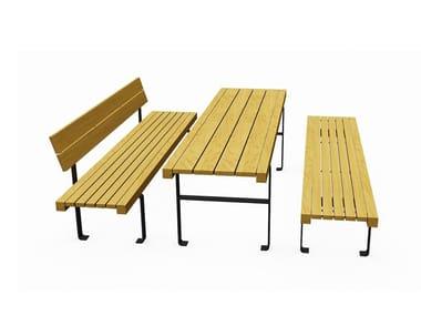 Rectangular wooden Table for public areas LINEATAVOLO LIGHT