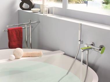 Miscelatore per vasca a muro con doccetta LINFA | Miscelatore per vasca con doccetta