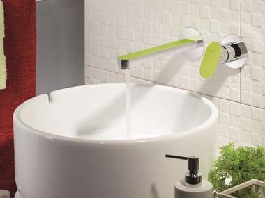Wall-mounted washbasin mixer without waste LINFA | Washbasin mixer without waste