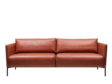 3 seater leather sofa LINJA | Leather sofa