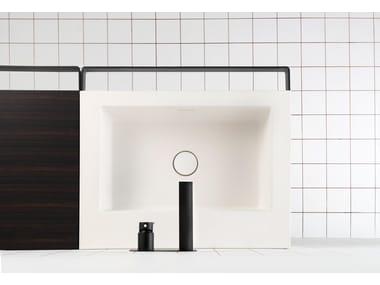 Lavabo simple avec porte-serviettes LINK | Lavabo