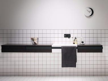 Lavabo singolo con porta asciugamani LINK | Lavabo