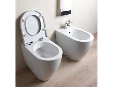 Floor mounted ceramic toilet LINK | Toilet