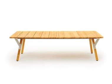 Rectangular garden table LINK LOW | Table