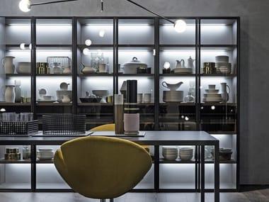 Sistena libreria con  anta a vetro LINK SYSTEM | Libreria