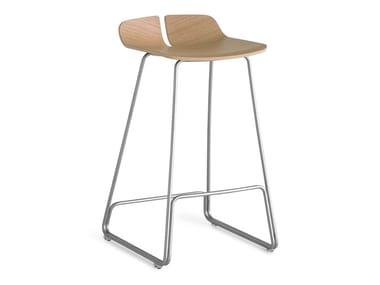 Sled base wooden stool LINK | Stool