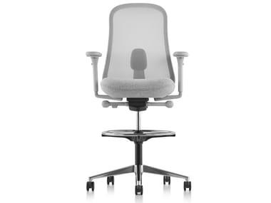 Tabouret de bureau ergonomique pivotant à roulettes LINO | Tabouret de bureau
