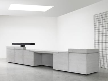 Modular lightweight concrete Office reception desk LINTEL