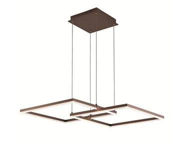 Lampada a sospensione a LED in acciaio LINUS