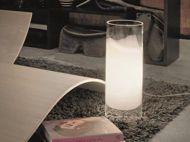 Glass table lamp LIO LT