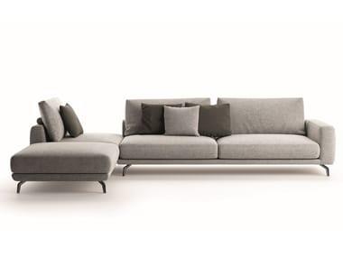 Corner sectional fabric sofa LIONE | Corner sofa
