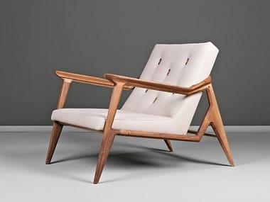 Fabric armchair with armrests LIPA | Armchair