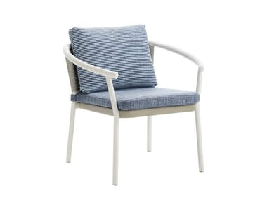 Garden easy chair with armrests LIPARI | Garden easy chair