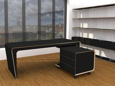 Linoleum executive desk LIR | Office desk