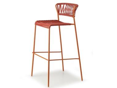 Steel and PVC garden stool LISA CLUB | Stool