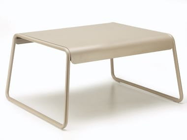 Sled base rectangular steel coffee table with tray LISA LOUNGE | Garden side table