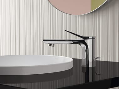 Countertop chromed brass washbasin mixer LISSÉ | Countertop washbasin mixer