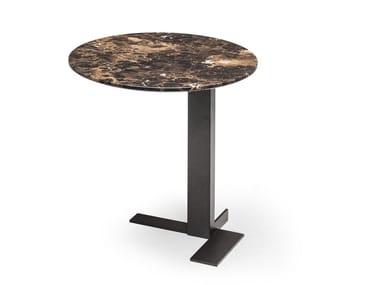 Tavolino di servizio rotondo in marmo LITH   Tavolino rotondo