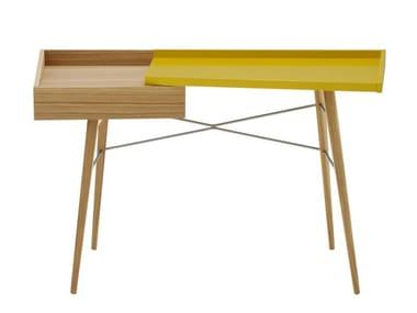 Oak secretary desk with drawers LITHO