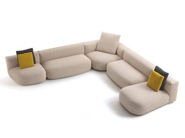 Canapé modulable avec revêtement amovible LITOS