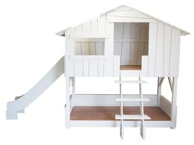 MDF Kids bunk bed with slide LITS CABANES | Kids bunk bed