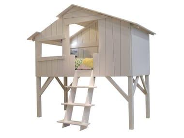 Loft MDF kids single bed LITS CABANES | Loft bed