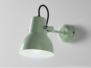LED thermo lacquered aluminium wall lamp with fixed arm LITTLE BIG BASE